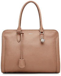 Alexander McQueen Small Padlock Leather Tote