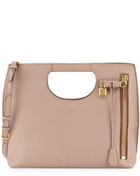 Tom Ford Alix Medium Calf Leather Tote Bag Blush Nude