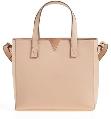 Vince Baby Signature V Leather Tote