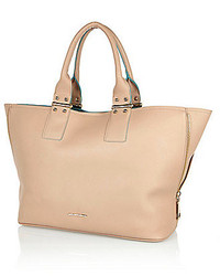 River Island Beige Slouch Beach Tote Bag