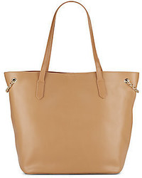 Callie Chain Trimmed Leather Tote