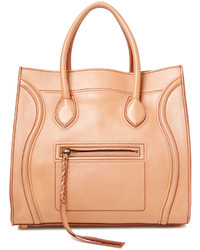 Celine Beige Leather Small Phantom Luggage Tote