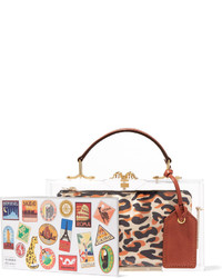 Charlotte Olympia Travel Pandora Leather Trimmed Perspex Tote