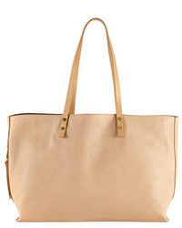 Chloé Chloe Dilan East West Leather Tote Bag Beige