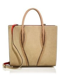 Christian Louboutin Paloma Large Zipper Trimmed Leather Tote
