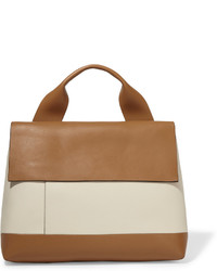 Marni City Pod Two Tone Leather Tote Tan