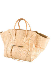 d6f7d8bf5a ... Tan Leather Tote Bags Celine Cline Python Phantom Tote Celine Cline  Python Phantom Tote ...
