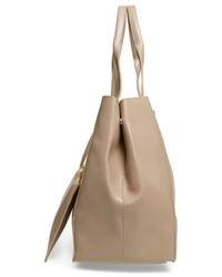 Sole Society Decklan Faux Leather Tote Beige