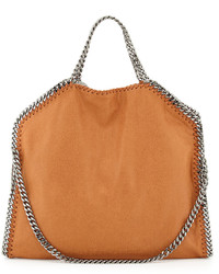 Stella McCartney Falabella Fold Over Tote Bag Tan
