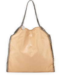 Stella McCartney Falabella Large Faux Leather Tote Bag Tan