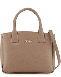 Furla Camilla Small Leather Tote Bag Daino