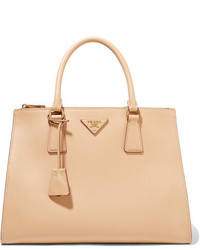Prada Galleria Soft Medium Leather Tote Sand