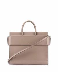 Givenchy Horizon Medium Leather Tote Bag Taupe Gray