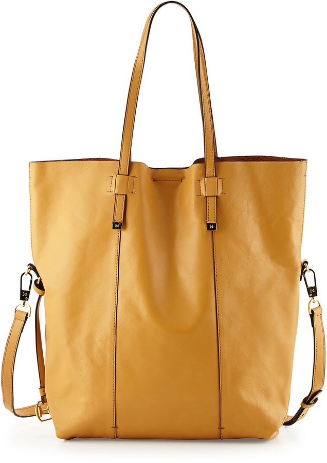 e5ec8fb75e ... Halston Heritage North South Leather Tote Bag Tan ...
