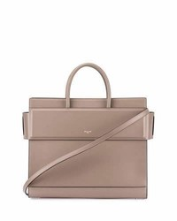 Givenchy Horizon Medium Leather Tote Bag Taupe Gray