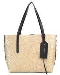 Jimmy Choo Twist Eastwest Croc Embossed Leather Tote