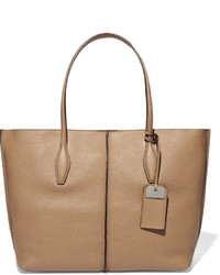 Tod's Joy Medium Textured Leather Tote Tan