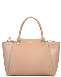 Lanvin Trilogy Leather Tote Bag Beige