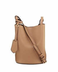 Burberry Lorne Haymarket Small Leather Tote Bag