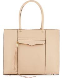 Rebecca Minkoff Mab Medium Leather Tote Bag Beige