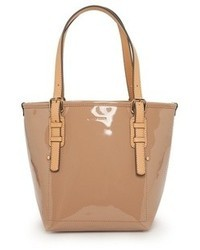 Mango Patent Shopper Bag