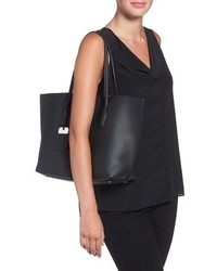 Tod's Medium Joy Leather Shopper Black