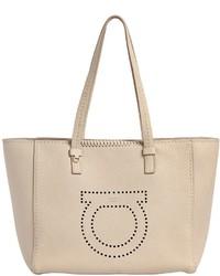 Salvatore Ferragamo Medium Marta Gancio Leather Tote Bag