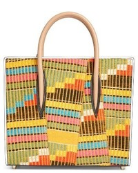 Christian Louboutin Medium Paloma Africube Leather Textile Tote None