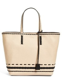Tod's Medium Whipstitched Leather Tote None