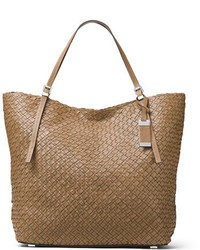 Michael Kors Michl Kors Hutton Large Woven Leather Tote Bag Luggage