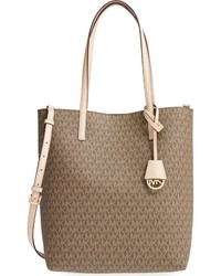 MICHAEL Michael Kors Michl Michl Kors Large Hayley Faux Leather Tote Brown