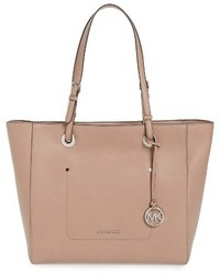 MICHAEL Michael Kors Michl Michl Kors Large Walsh Leather Tote Beige