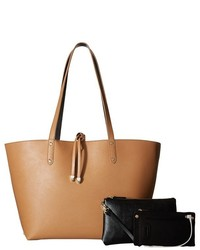 Mighty Purse Vegan Leather Charging Reversible Tote