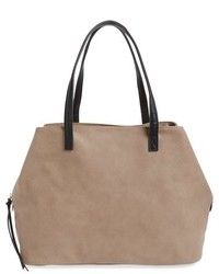 Sole Society Millar Faux Leather Tote Brown