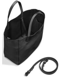 Shinola Mini Leather Shopper Black