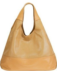 Mofe Halcyon Perforated Leather Triangular Tote Style Shoulder Bag With Interior Zip Center Divide