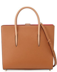 Christian Louboutin Paloma Large Triple Gusset Tote Bag Tan