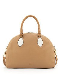Christian Louboutin Panettone Large Dome Satchel Beigewhite