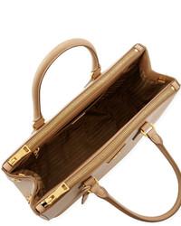 Prada Saffiano Double Zip Executive Tote Bag Beige | Where to buy ...