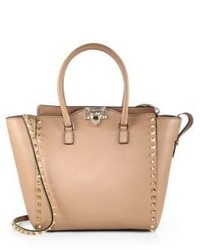 Valentino Rockstud Smooth Leather New Tote