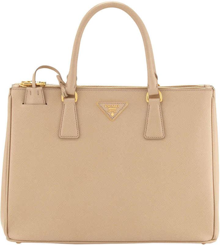 1d991147b08c20 ... authentic prada saffiano double zip executive tote bag beige 29dc9 4b6de