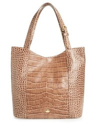 Brahmin Savannah Brayden Embossed Leather Tote Grey