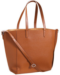 Joe Fresh Scalloped Tote Dark Tan