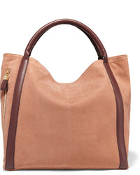 See by Chloe See By Chlo Harriet Leather Trimmed Nubuck Tote Sand