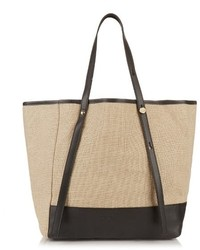 See by Chloe See By Chlo Linen And Leather Tote