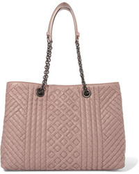 Bottega Veneta Shopper Large Intrecciato Leather Tote Blush