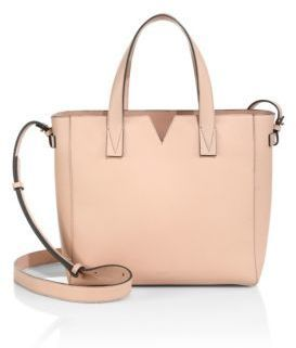 Vince Signature Baby Leather East West Tote