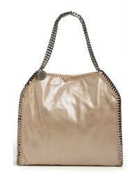 Stella McCartney Small Falabella Faux Leather Tote Metallic