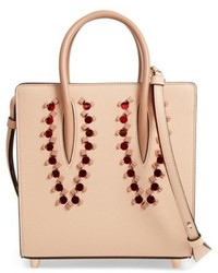 Christian Louboutin Small Paloma Empire Leather Tote Beige
