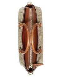 Gucci Small Top Handle Gg Supreme Canvas Leather Tote